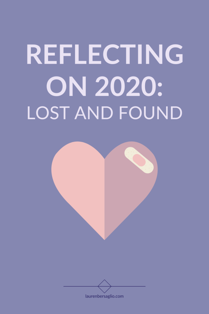 reflecting on 2020 lost and found