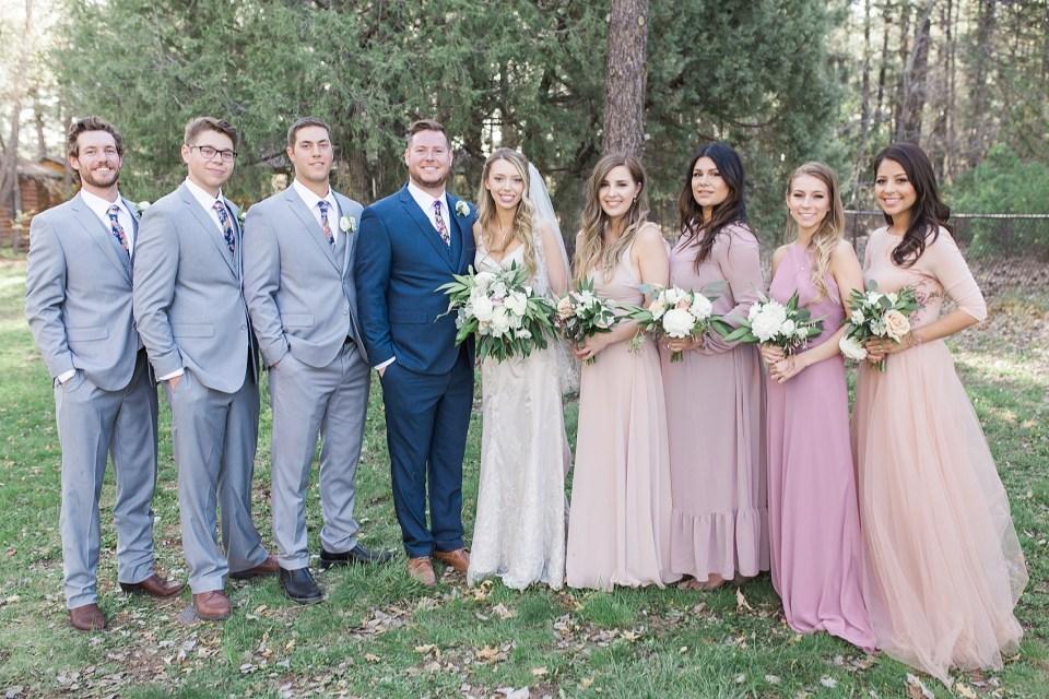 Pinetop Wedding, Northern Arizona Wedding Photographer, Lakeside Wedding, Woodsy Wedding, Bridal Party