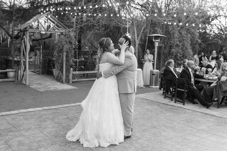 Phoenix Garden Wedding Photographer, Blush Garden Wedding, Blue Winter Phoenix Wedding, Arizona Wedding Photographer, AZWed, Arizona Weddings, Winter Wedding Day, Whispering Tree Ranch Wedding, Black and White, Noble Presets