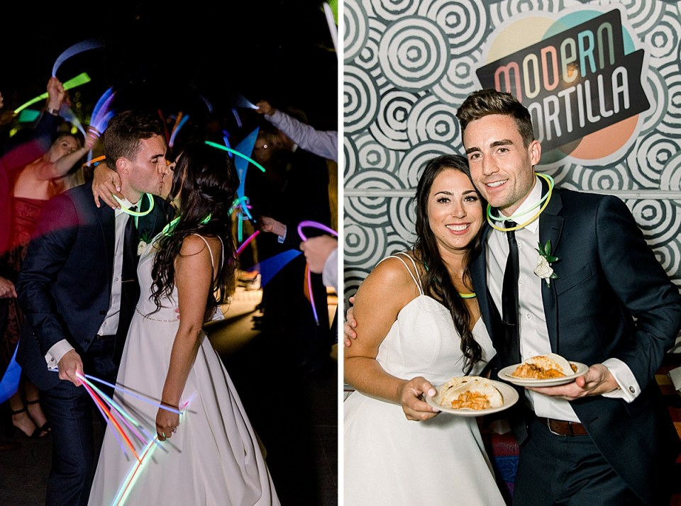 Andaz Scottsdale Food Truck, Wedding Taco Food Truck, Wedding Churros, Glowstick Exit