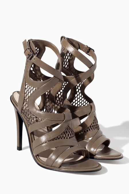 zara leather open toe high heel sandal