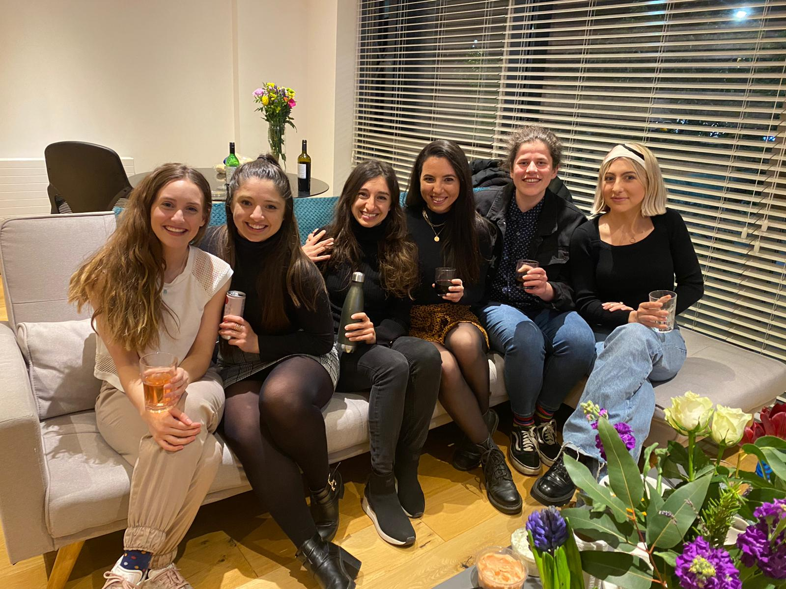 Friends in London apartment