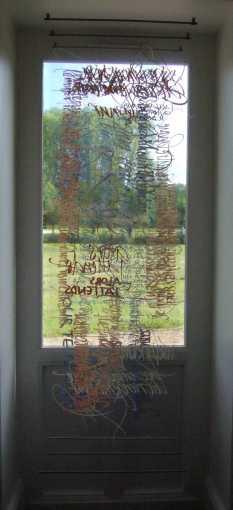 Calli sur transparents, au musée G.de Sonneville, Gradignan