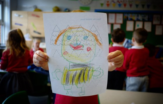 Self Portrait by child at Crays Hill