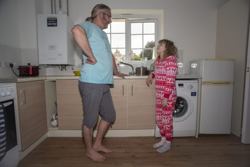 Lee and Siobhan in the kitchen