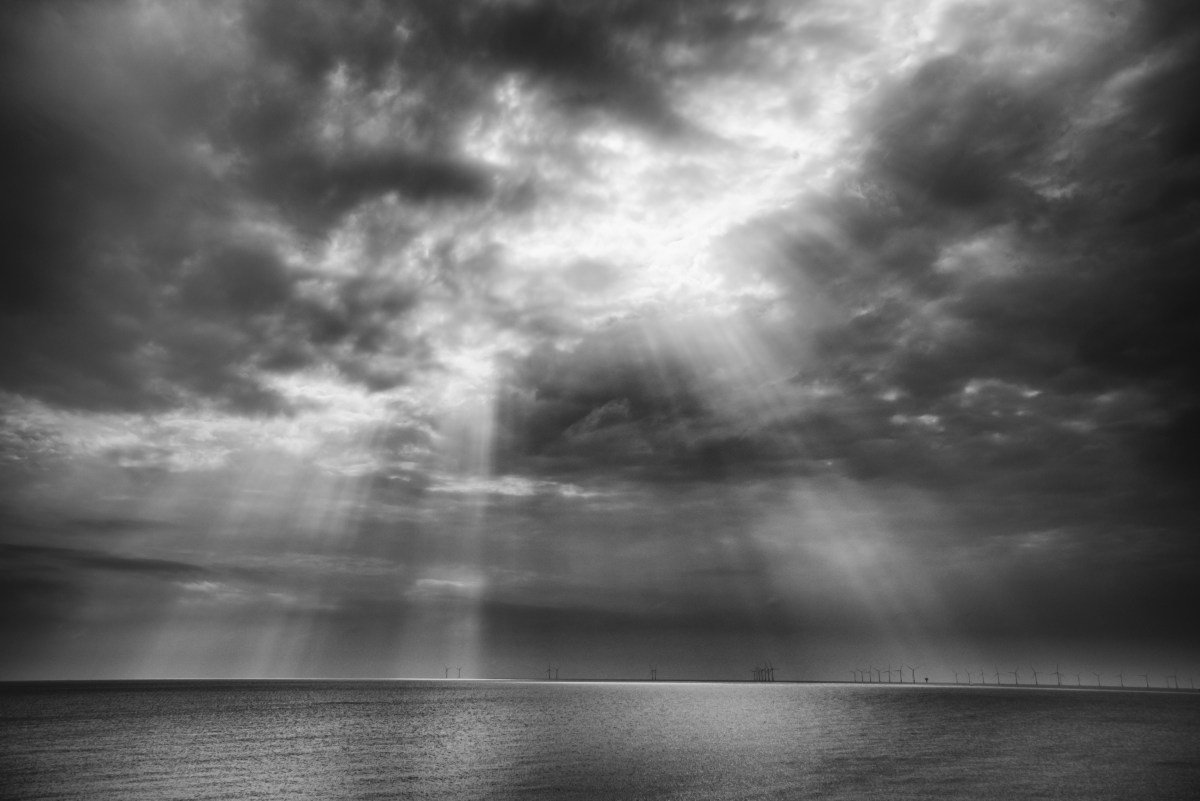 Light shafts at Holland on Sea