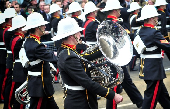 Band on parade