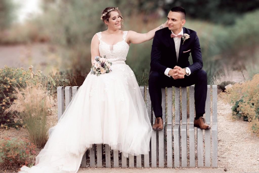 séance coupe mariés Jardin des Traces à Uckange