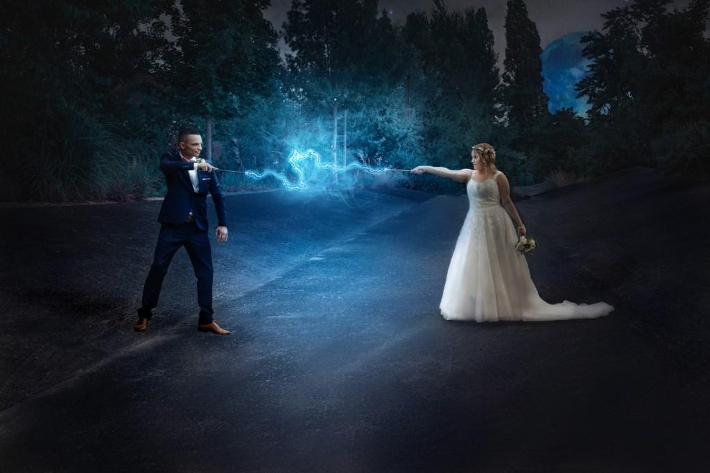 Un mariage avec un clin d'œil à Harry Potter