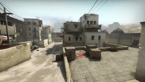 """""""Long"""" area of the CS:GO Map; Dust 2."""