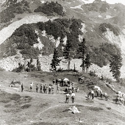 The Rinehart party at Cascade Pass in 1916