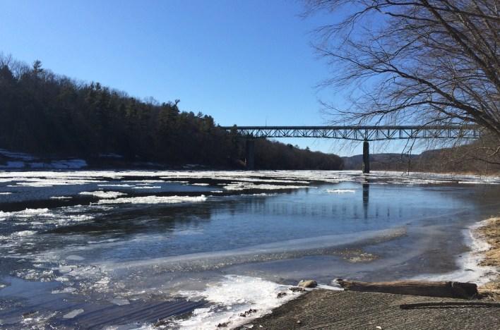 Ice on Delaware River