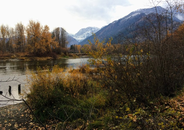 View from Leavenworth's riverfront park.