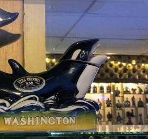 A commemorative Jim Beam bottle celebrates Washington state's iconic sea hunters..