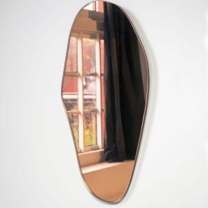 Miroir teinté corail - Laurène GUARNERI