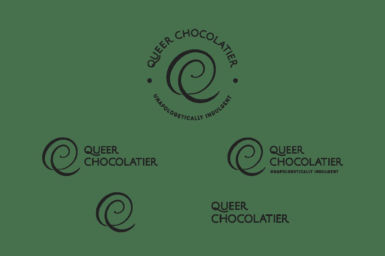 Queer Chocolatier lockups