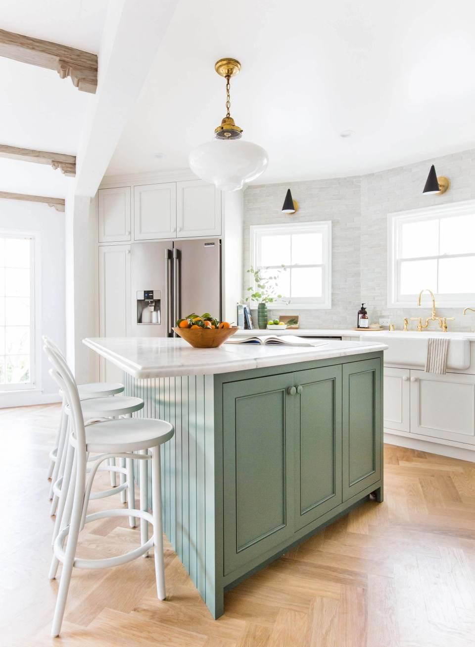 Green colourful kitchens interior designer colour inspiration