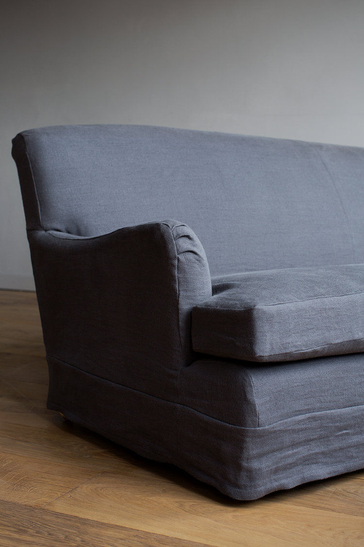 Belgian Interiors our guide to this laid back style linen sofa grey