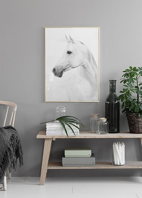 Horse print Cheltenham races country style interior
