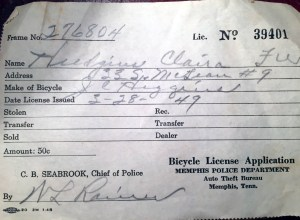 bicycle license application