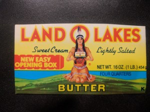 one side of a Land O Lakes box