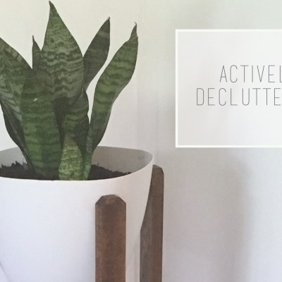 Actively Decluttering