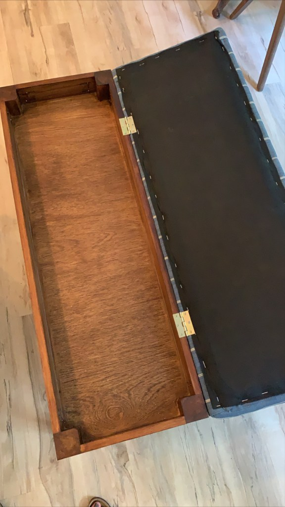 hinged diy upholstered bench with storage