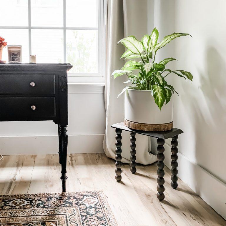 DIY Turned Leg Plant Stand