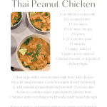 Quick Monday Meal - Thai Peanut Chicken, easy dinner ideas, fast dinner ideas, peanut chicken