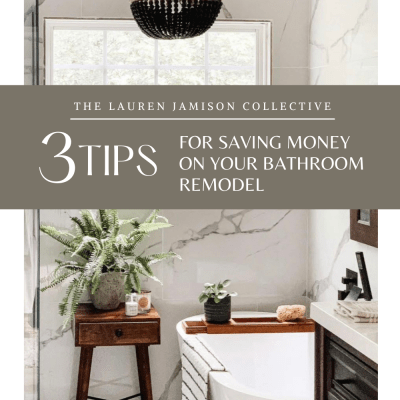 3 Tips For Saving Money On Your Bathroom Remodel