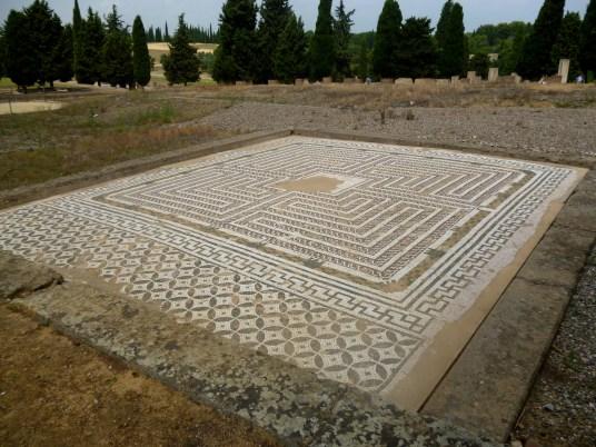 Mosaic inside Italica.