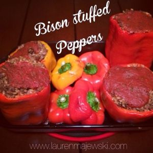 Bison Stuffed Peppers