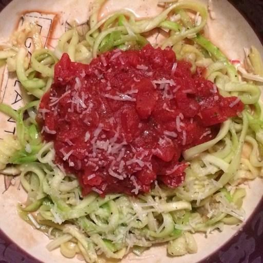 Zucchini Noodle Pasta