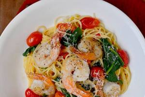 Clean Garlic Shrimp Pasta