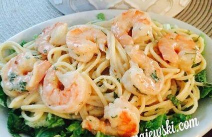 Clean Thai Peanut Noodles & Shrimp!