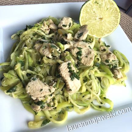 Cilantro Lime Chicken & Zucchini Noodles