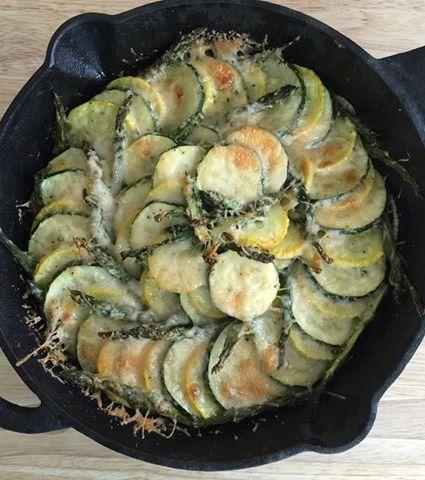 Zucchini Gratin Skillet Bake!