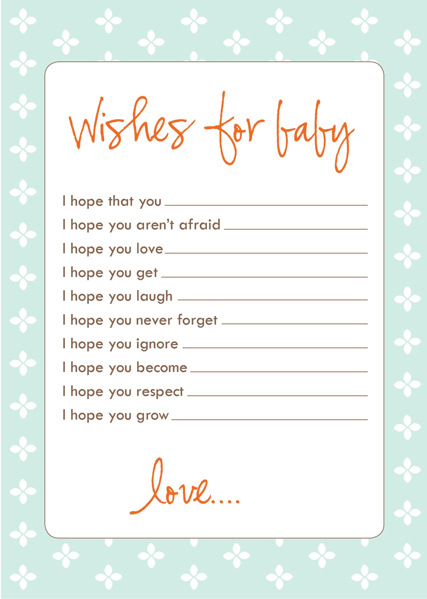 Freebie Wish Cards
