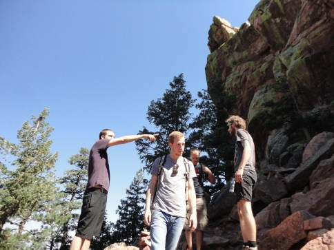 Hiking the Flat Irons in Boulder, CO with Zoltan's cousin Joel.