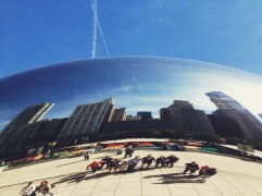 The Bean in Chicago, on a tour of the city with our friend Arturo.