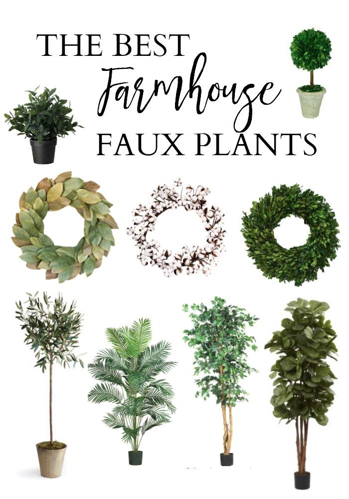 The best farmhouse faux plants