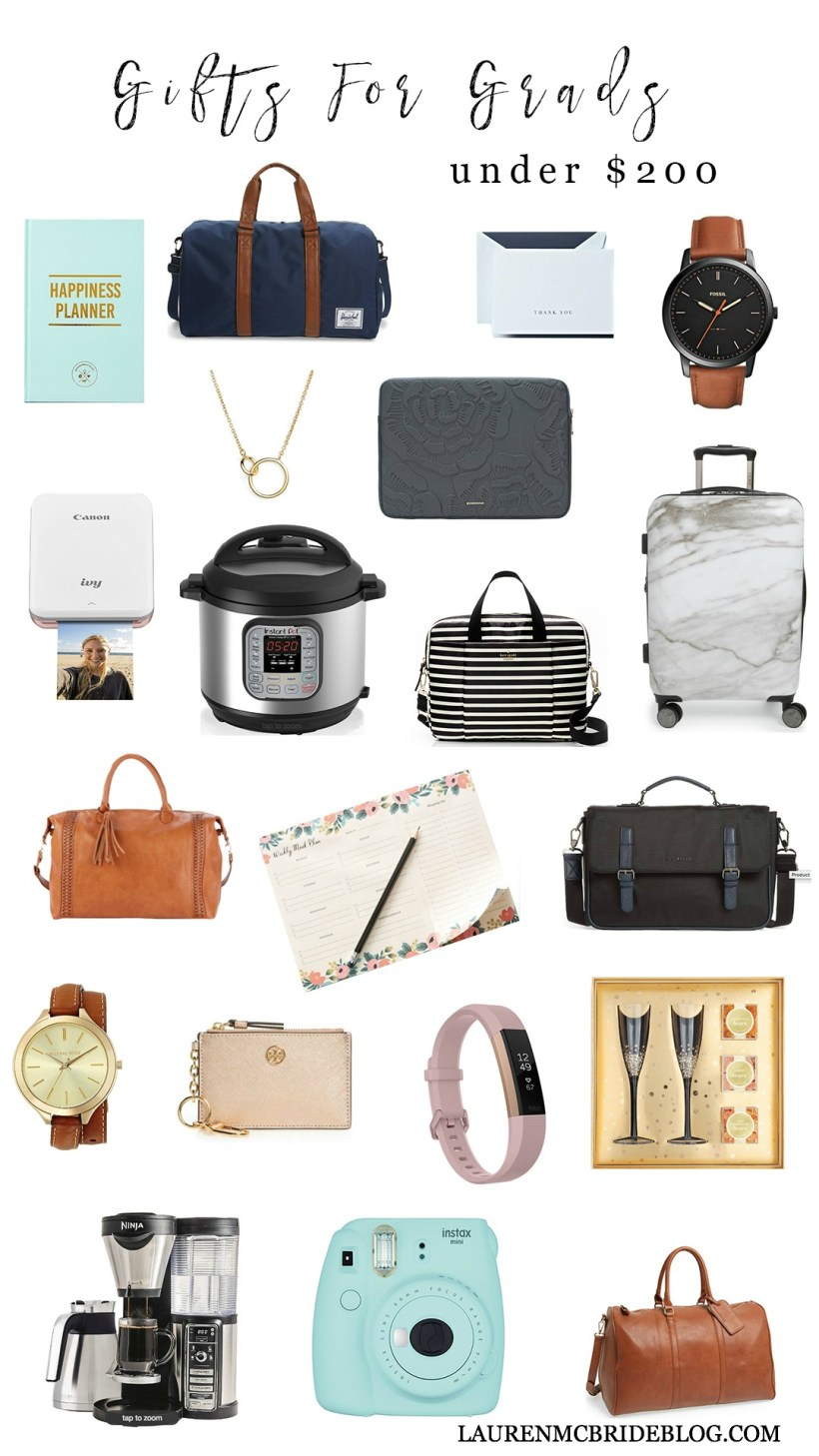 Life and style blogger Lauren McBride shares unique Gifts for Grads, including a variety of gift options for your high school or college graduate.