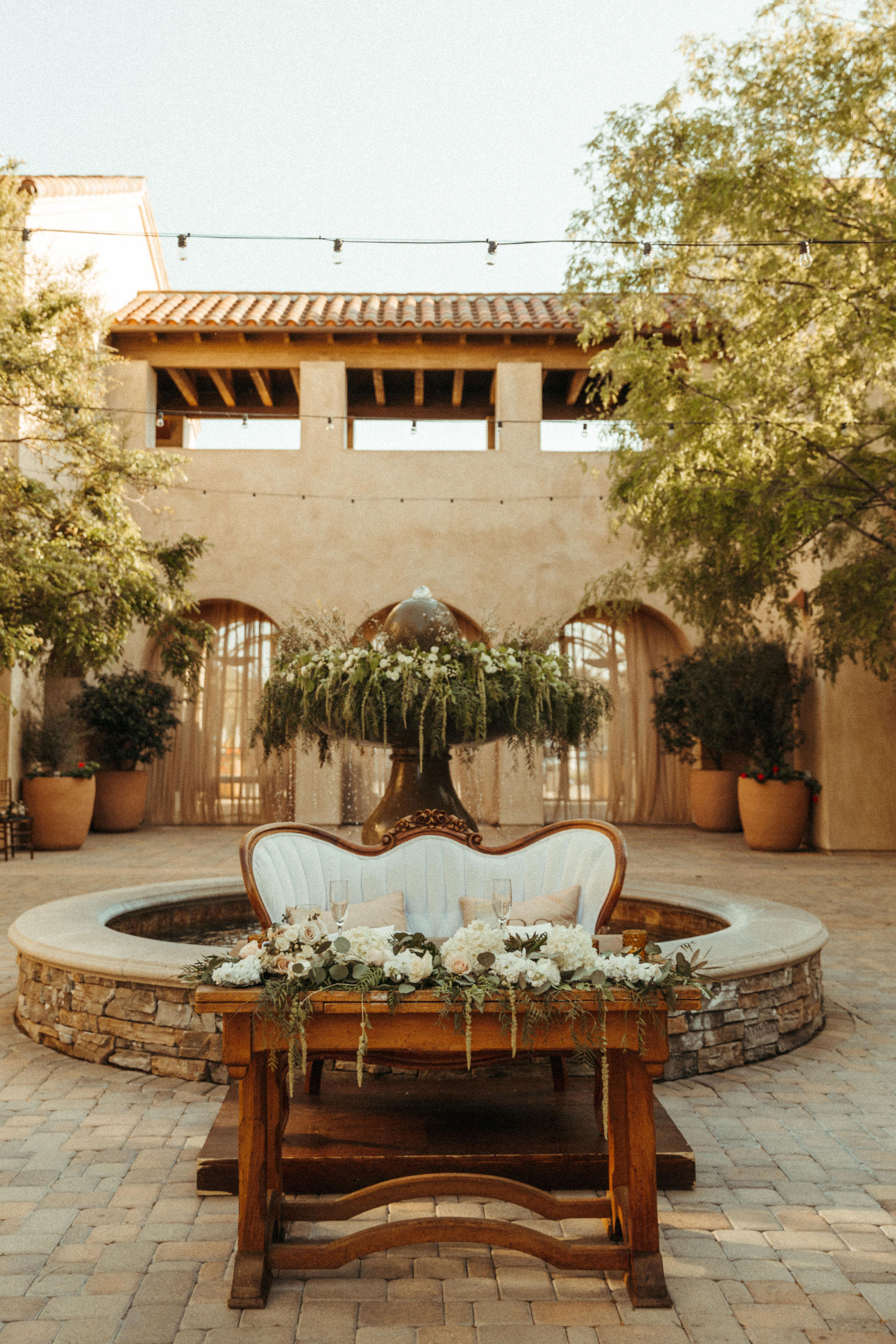spanish style courtyard wedding venue