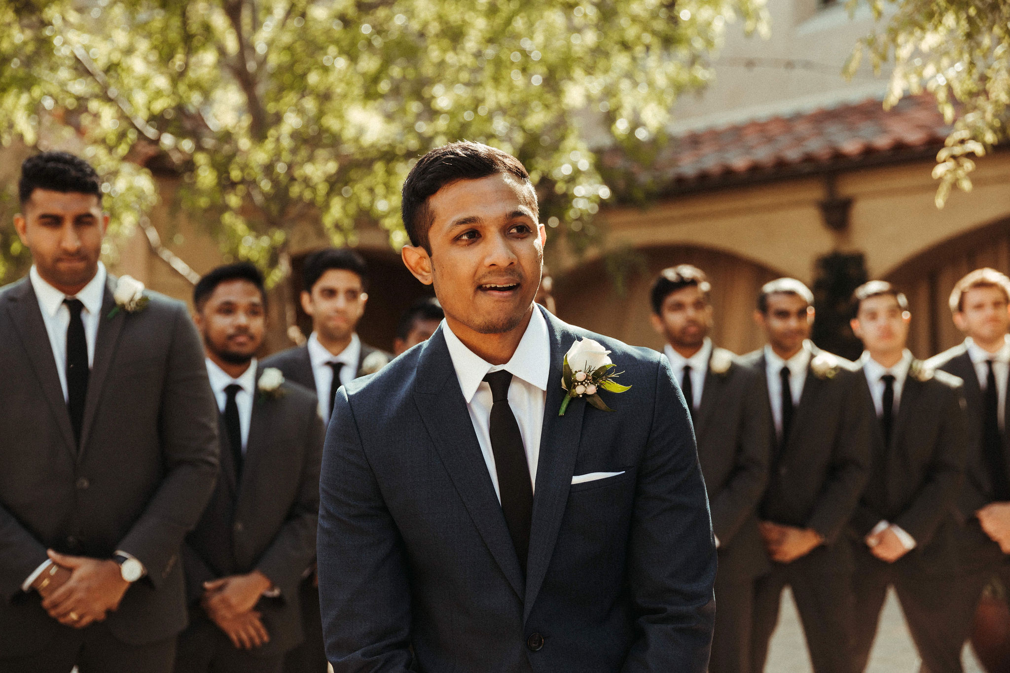 Groom cries as he sees his bride walking down the aisle for the first time