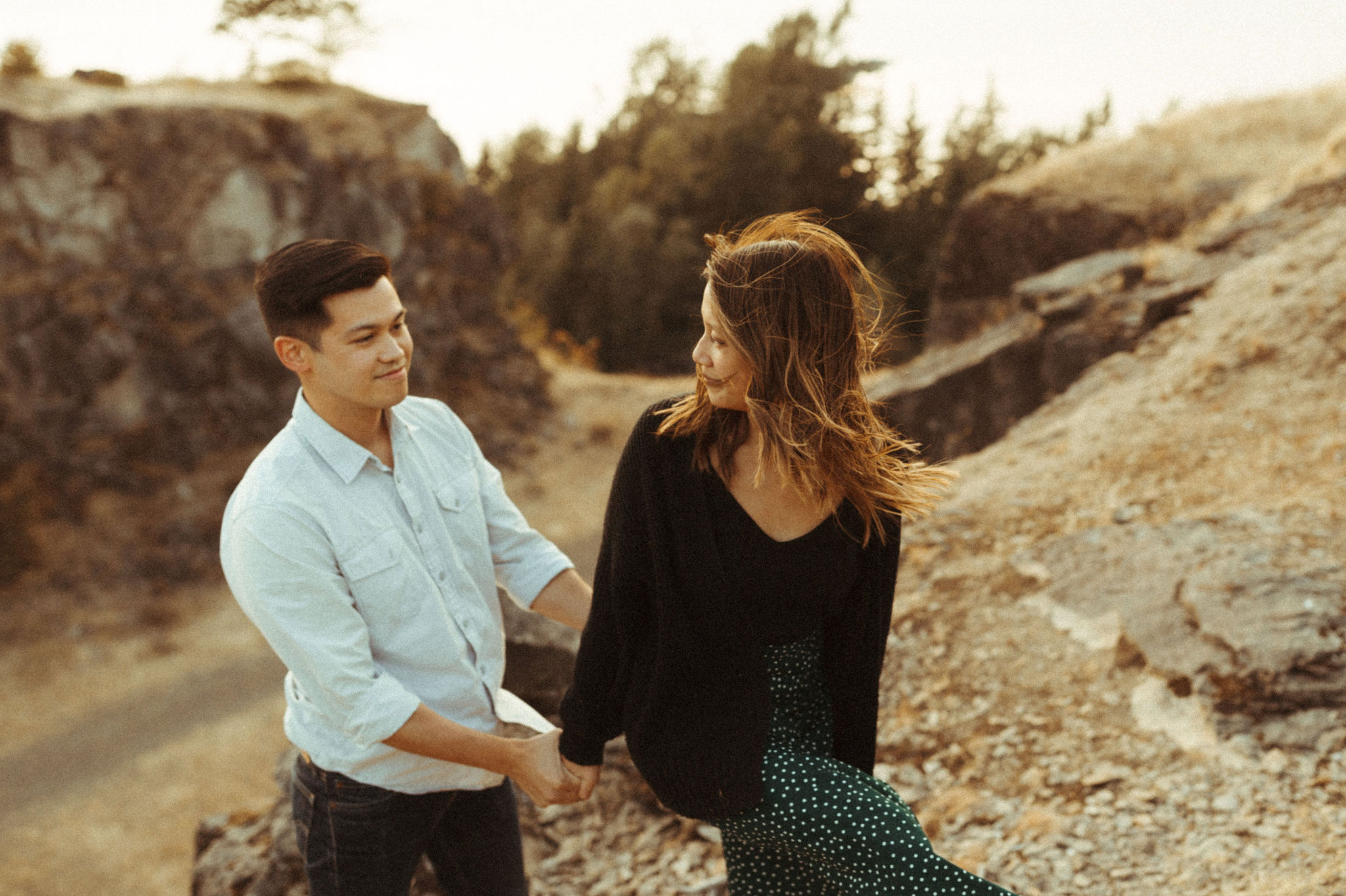 government cove engagement session photographer