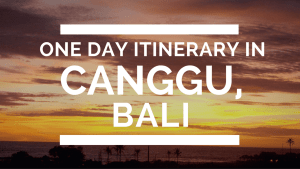 How to Spend One Day in Canggu, Bali