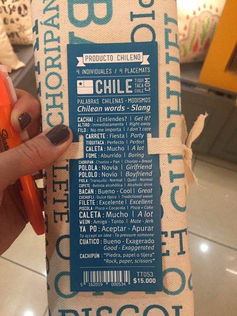 Chilean Slang Placemats