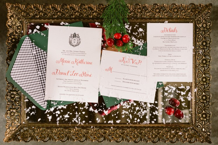 Invitation suite designed by custom wedding invitation designer