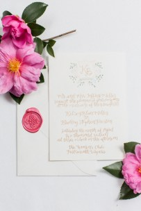 gold-calligraphy-floral-watercolor-monogram-wax-stamp-invitation-suite-1