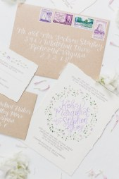 purple-green-floral-watercolor-invitation-calligraphy-kraft-vintage-stamps-envelope-1